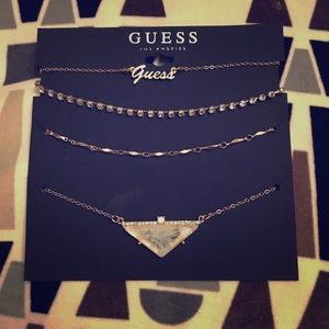 Set of 4 Guess Necklaces